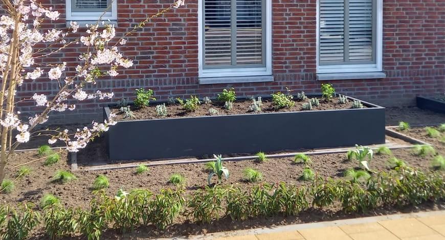 Bloembak, Op Maat, Plantenbak, Stalen Bloembak, Tuin, tuinaanleg, maatwerk staal, plantenbak, moderne tuin 1